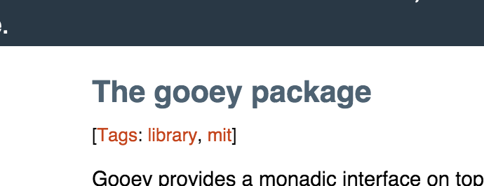 the gooey package
